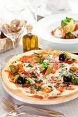 Pizza Dinner — Stock Photo