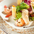 Seafood with Pasta — Stockfoto