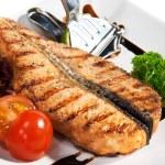 Fish Dishes - Salmon Steak — Stock Photo #23474210