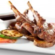 Lamb Chops and Vegetables - Stock Photo