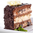Dessert - Chocolate Layer Cake — Stock Photo