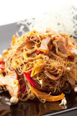 Pork with Noodles — Stock Photo