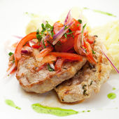 Pork with Potato — Stock Photo