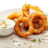 Calamari Rings — Stock Photo