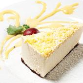 Dessert - Lemon Cheesecake — Stock Photo