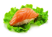 Smoked Salmon Sushi — Stock Photo