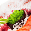 Wasabi Tobiko Gunkan Sushi — Stock Photo