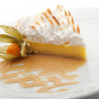 Dessert - Slice of Lemon Pie topped with Whipped Cream — Stock Photo