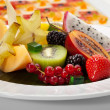 Exotic Fruit Dish - Stock Photo
