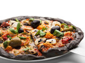 Black Pizza — Stock Photo