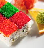Tobiko Rainbow Roll — Foto de Stock