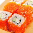 California Roll with Tobiko - Stock Photo