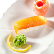 Smoked Salmon Sushi — Stockfoto