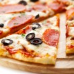 salame pizza — Foto Stock