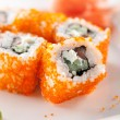 Salmon and Tobiko Roll — Foto Stock