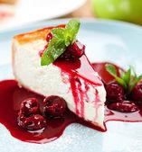 Postres - tarta de queso — Foto de Stock