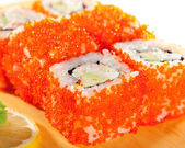 California Roll with Tobiko — Stock Photo