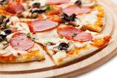 Pizza Salami — Stock Photo