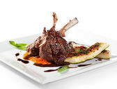 Lamb Chops and Vegetables — Foto de Stock