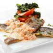 Seabass with Tomato — Stock Photo