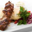Hot Meat Dish - Shashlik — Stock Photo