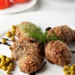 Buckwheat cutlet - Stock Photo