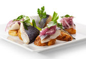 Cold Fish Dishes - Fish with Potato — Stock Photo