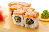 Japanese Cuisine - Sushi Roll — Stock Photo