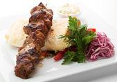 Hot Meat Dish - Shashlik — Stock Photo
