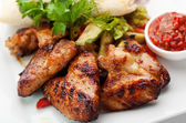 BBQ Chicken Wings — 图库照片