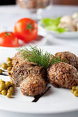 Buckwheat cutlet — Stock Photo