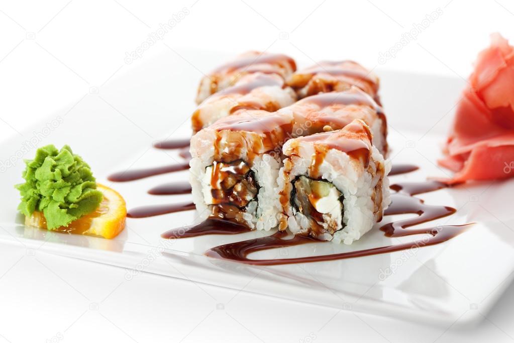 Новому клиенту, ролл Самурай в подарок! «РИС» - суши бар 38