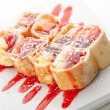 Sweet Fruit Sushi Roll — Stock Photo