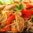 Noodles with Pork - Foto Stock