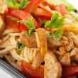Noodles with Pork — Stock Photo