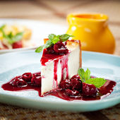 Dessert - Cheesecake — Stock Photo