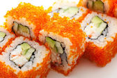 California Roll with Masago — Stok fotoğraf