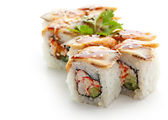 Roll with Crab Meat — Stock Photo