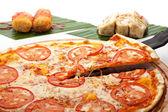 Pizza Margherita — Stock Photo
