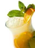 Cocktail - Orange Mojito — Stock Photo
