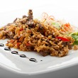 Fry Rice with Beef — Stock Photo