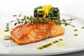 стейк из лосося — Стоковое фото