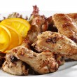 Hot Meat Dishes - Fried Chicken Wings — Stock Photo