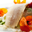 Hot Fish Dishes - Trout Fillet — Stock Photo