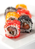 Japanese Cuisine - Sushi — Stock Photo