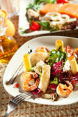 Seafood with Pasta — Stock Photo