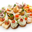 Stock Photo: Canapes