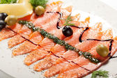 Salmon Carpaccio — Stockfoto