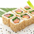 Stock Photo: Smoked Salmon Roll