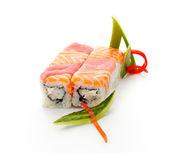 Salmon and Tuna Roll — Stock Photo